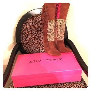 Betsy Johnson Zohara boots tall wedges